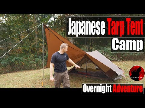 Japanese Gear Mountain Camping Overnight Adventure + Cast Iron Cooking and Rain