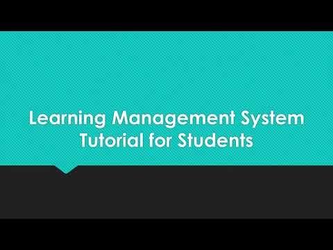 Learning Management System Student Tutorial