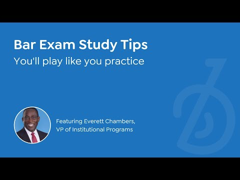 YOU'LL PLAY LIKE YOU PRACTICE | Everett Chambers, BARBRI Vice President of Institutional Programs