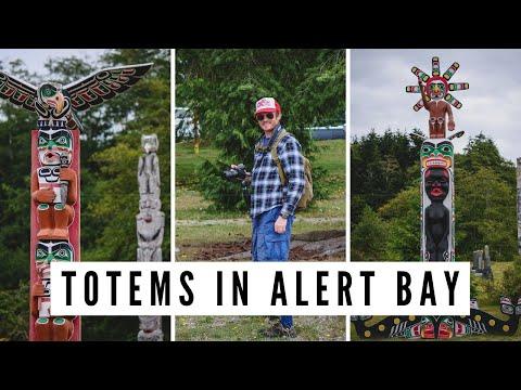 ALERT BAY, BC   Visiting the World's Tallest Totem Pole on Cormorant Island