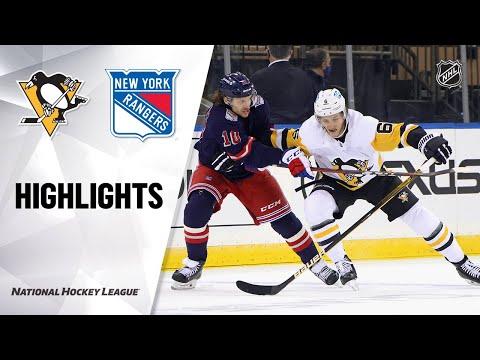 Penguins @ Rangers 4/8/21 | NHL Highlights