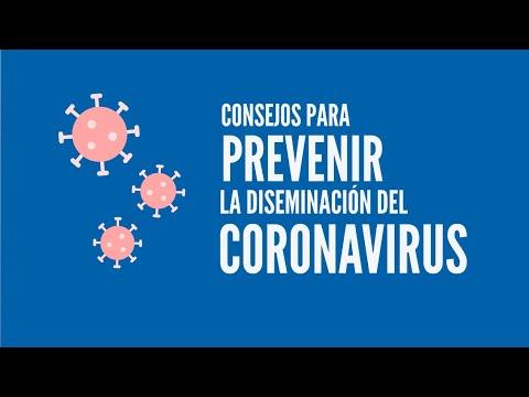 Consejos para prevenir la diseminación del coronavirus
