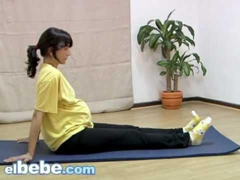 Ejercicios para la embarazada: circulación y cervicales www.elbebe.com