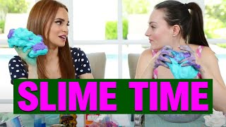 MAKING SLIME FOR THE FIRST TIME W/ ROSANNA PASINO!