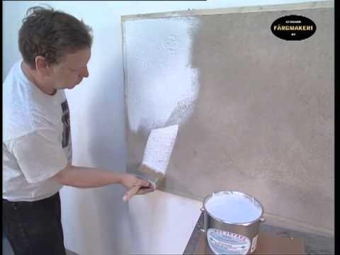 anstrich von putz im au en und innenbereich mit ottosson lein lfarbe wei youtube. Black Bedroom Furniture Sets. Home Design Ideas