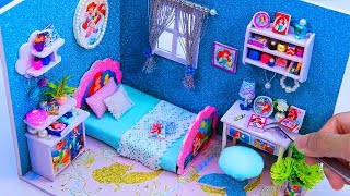 DIY Miniature Dollhouse Room ~ Little Mermaid Ariel Room Decor ~ 10 Minute DIY Doll Crafts #6
