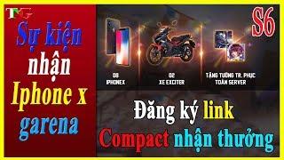 Liên quân mobile Hướng dẫn Đăng ký quay thưởng LINK compact nhận iphone X và xe máy Exciter 150 RC