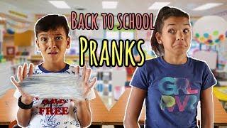 Back to School PRANKS! using school supplies!