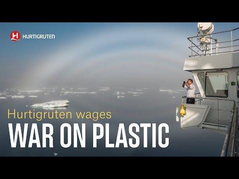 Hurtigruten war on plastic
