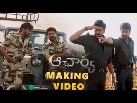 Ram Charan shares Acharya movie making video