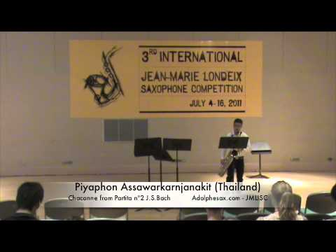 3rd JMLISC Piyaphon Assawarkarnjanakit. Chaconne Partita n2 Bach
