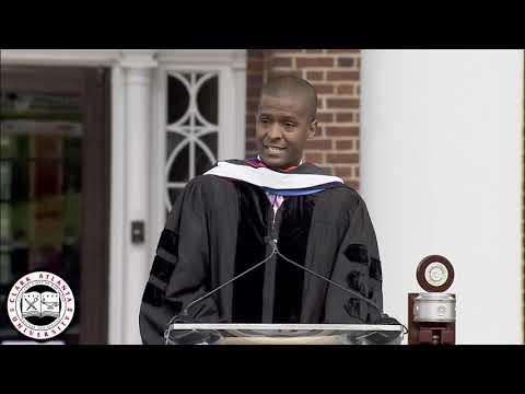 Attorney & Activist Bakari Sellers addresses the Clark Atlanta University Class of 2021