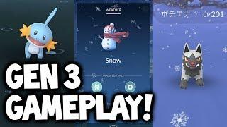 "Pokémon GO Gen 3 SNEAK PEEK GAMEPLAY & In-Depth Guide to New Pokémon GO ""Weather"" Update Feature"