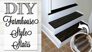 DIY Farmhouse Stairs | 💰 WE FOUND HIDDEN TREASURE | Kitchen Reno