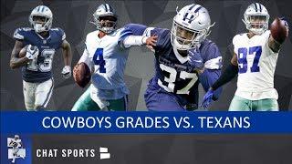 Cowboys Grades For Dak Prescott, Michael Gallup & Taco Charlton vs. Texans In NFL Preseason Week 3