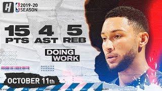 Ben Simmons Full Highlights vs Charlotte Hornets (2019.10.11) - 14 Pts, 5 Reb, 4 Ast!