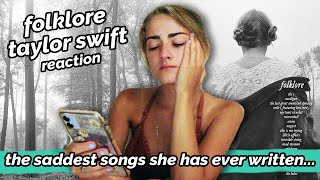 maybe i cried... a lot ✰ FOLKLORE ✰ Taylor Swift Reaction