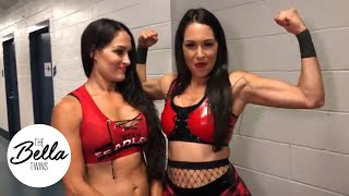 THE BELLA TWINS ARE BACK! Brie dedicates her tag team match win to Birdie! #WorldsToughestMama
