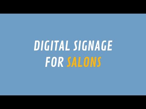 ScreenScape Digital Signage for Salons