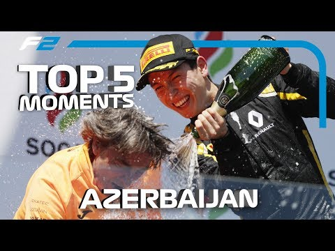 Top 5 Formula 2 Moments | 2019 Azerbaijan Grand Prix