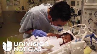 Conmovedoras imágenes muestran al bebé extraído del vientre de Marlen Ochoa aferrándose a la vida