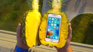 Can a Pineapple Protect iPhone 6s From Extreme 100 FT Drop Test? - GizmoSlip