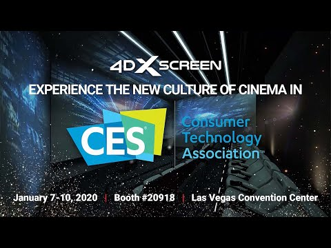 World's First Four-Sided 4DX Screen Theater Virtual Tour at CES 2020