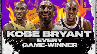 Kobe Bryant EVERY CAREER GAME-WINNING SHOTS!