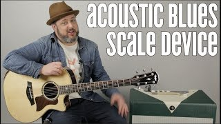Great Blues Scale Run For Acoustic Blues and Rock and Country