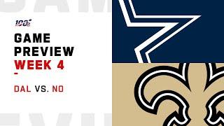Dallas Cowboys vs. New Orleans Saints Week 4 NFL Game Preview