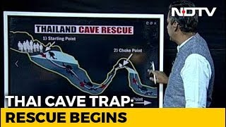 Watch: A Breakdown Of Rescue Team's Plan To Evacuate Thai Boys From Cave