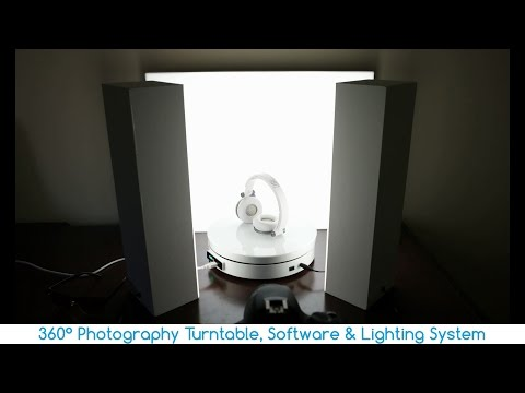 360° Photography Turntable, Software & Lighting System