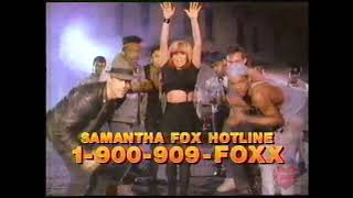 Samantha Fox Hotline | 1-900-909-FOXX | Television Commercial | 1989