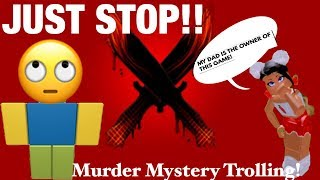 TROLLING ON MURDER MYSTERY X//Funny Reactions!