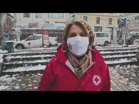 Ελληνικός Ερυθρός Σταυρός.  Στο πλευρό των αστέγων στη χιονισμένη Αθήνα