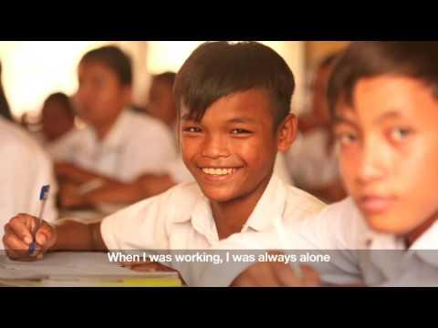 Sokhom drömde om att få gå i skolan