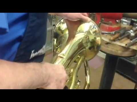 Removing Dents from Brass Instruments