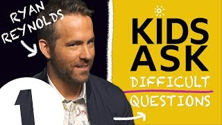 """Why do you swear so much?!"": Kids Ask Ryan Reynolds Difficult Questions"