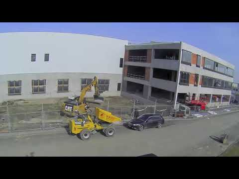 New healthcare facility captured in time-lapse in Ghent, DSV in Belgium