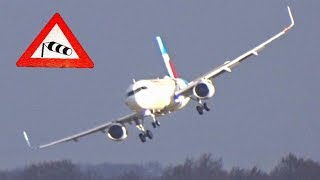 Storm/Hurricane Friederike with up to 63 Knots Crosswind and 20 go arounds or touch and go