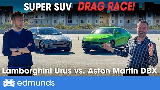 Lamborghini Urus vs. Aston Martin DBX | Exotic SUV Showdown & Drag Race | 0-60 Performance & More