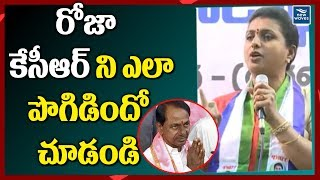 Roja heaps praise on KCR at Women Wing Meeting in Guntur..