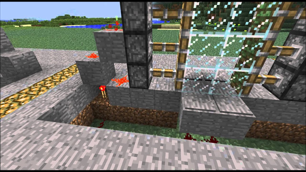 Sliding Glass Door: Minecraft Sliding Glass Door