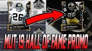 HOW TO GET YOUR HALL OF FAME PLAYER TO A 90 OVERALL!  HALL OF FAME PROMO! | MADDEN 19 ULTIMATE TEAM