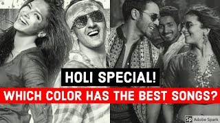 Which COLOR has the BEST HOLI SONGS? | New Bollywood/Hindi Songs Challenge Video 2019!