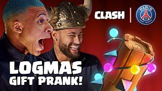 Logmas Gift Prank! Neymar Jr, Mbappé, Marquinhos, Verratti, Kimpembe  | Paris Saint-Germain x Clash
