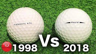 1998 Golf Ball Vs 2018 Golf Ball (20 Year Test)