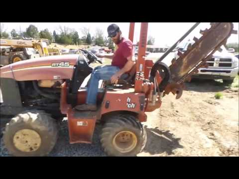 2010 Ditch Witch RT45 trencher for sale | no-reserve Internet auction May 11, 2017