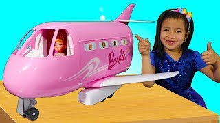 Jannie Pretend Play with Barbie Toy Plane