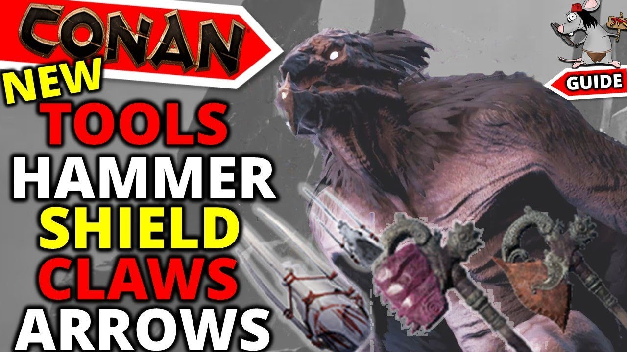 CONAN EXILES New Weapons Tools Locations - Beastial Claws - Doom -  Unwelcome Gift